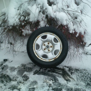 225 55 16 Michelin Xice on 5x114.3 Alloy Rims w TPMS off Acura