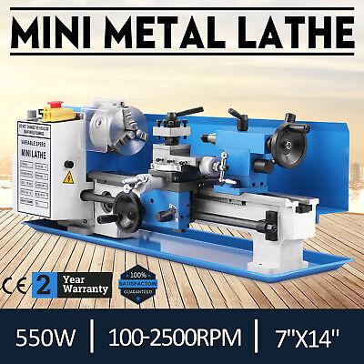 7x14 550W Mini Precision Metal Lathe Variable Speed Digital Read out 2500RPM!