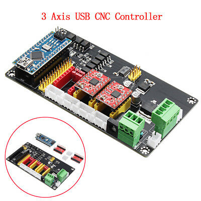 3 Axis Cnc Controller Stepper Motor Driver Board For Diy Laser Engraving Machine