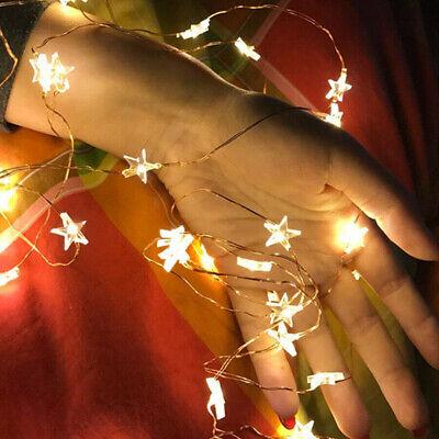 UK LED Star Lights Battery Garden Fairy String Micro Wedding Party Bedroom Decor