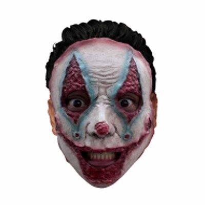 Serial Killer Jester Evil Clown Half Latex Adult Scary Halloween Gholish Mask