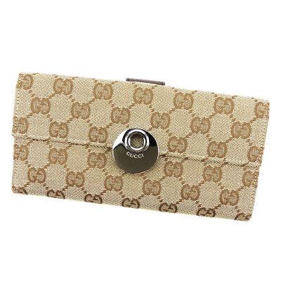 Auth GUCCI purse Wallet GG canvas men
