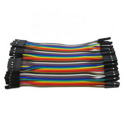 40x Dupont Cable 10cm 2.54mm 1p Female To Female Arduino Raspberry Pi Jumper At