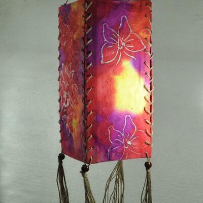 Indischer Lampenschirm Farbe: Fuchsia/Bunt 32 cm Baumwolle Dekolampe Hängelampe