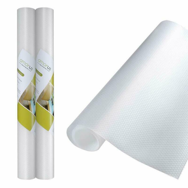 2 Rolls EVA Shelf Liners Non-Adhesive Refrigerator for Kitch