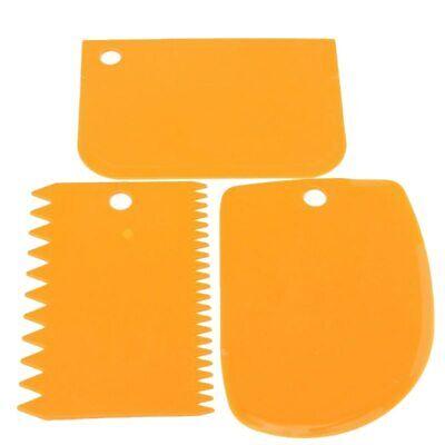 3pcs/set kitchen accessories plastic fondant cake decorating tools Spatulas Kitchen Decorating Accessories