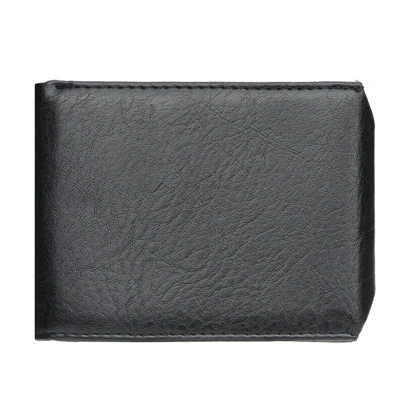 Mens Leather Wallet Slim Front Pocket Snap Button ID Credit Card Holder Clutch Clothing, Shoes & Accessories