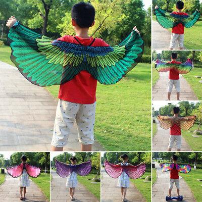 Kinder Mädchen Mantel Fairy Schmetterling Vogel Kostüm Flügel Cosplay II Aa