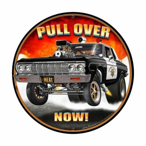 "California Highway Patrol 426 Hemi Plymouth NEW Metal Sign 28"" Dia. USA STEEL"