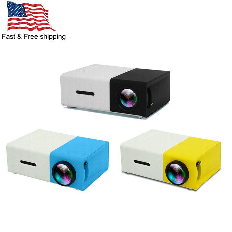 YG300 1080P Home Theater Cinema USB HDMI AV SD Mini HD LED Projector Portable US