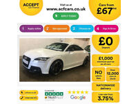 White AUDI TT CO 1.8 2.0 TDI Diesel S LINEBLACK EDITION FROM £67 PER WEEK!