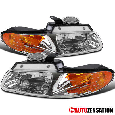 For 1996-2000 Dodge Grand Caravan Chrysler Town&Country Clear Headlights Pair