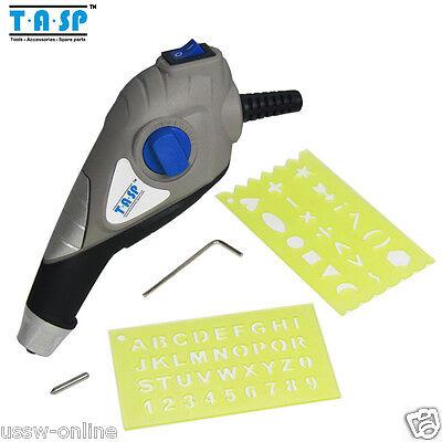 Tasp 13w Electric Engraver Pen Set Engraving For Metal Wood Plastic Glass Steel