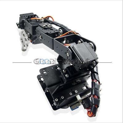 6 Dof Aluminium Arm Clamp Claw Machinery Mechanical Robot Arduino Control Kit G