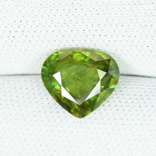 1.56 ct  DAZZLING  GLOW   MASSIVE  GREEN NATURAL  SPHENE   Heart  6280 BC