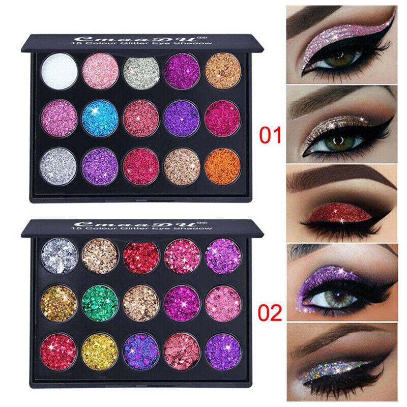 15 Colors Women Shimmer Glitter Eye Shadow Powder Palette Ma