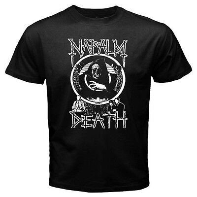 New NAPALM DEATH Heavy Death Metal Rock Band Mens Black T-Shirt Size S - 3XL