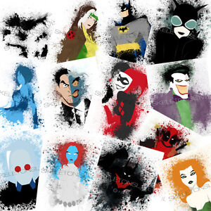Splatter Art Prints - DC / Marvel / Star Wars / Video Game London Ontario image 1