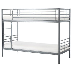 Used Ikea Single Bunk Bed, simple foam mattresses for $20 EACH