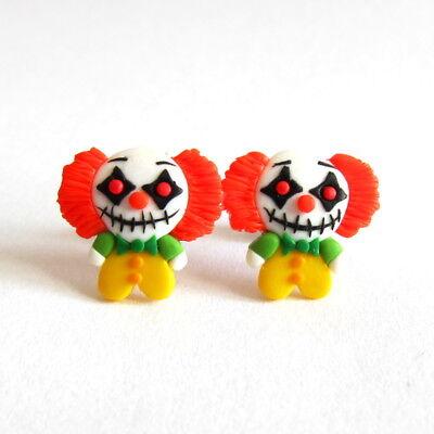 Halloween Party Mädchen Kostüm Killer Gruselig Clown Ohrringe (Mädchen Killer Clown Kostüm)