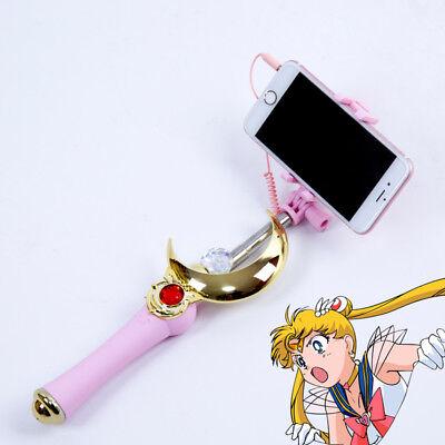 Sailor Moon Cosplay Bluetooth Selfie Stick Stange Selbstauslöser monopod iphone