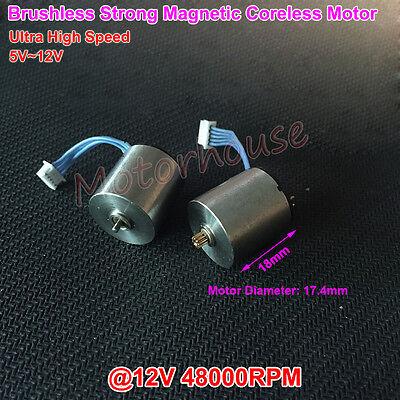 Dc 5v 6v 9v 12v 48000rpm High Speed Magnetic 18mm Mini Coreless Brushless Motor
