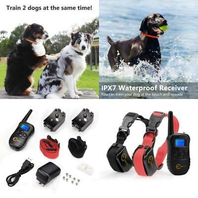 Best Dog Shock Collar With Remote Electric For Large Pet Training Two 2 Dogs