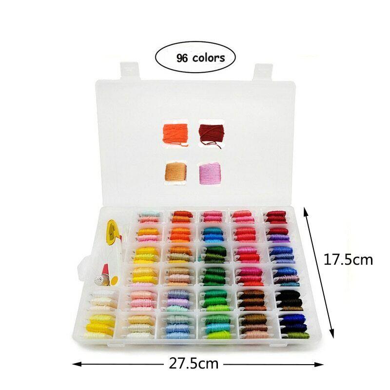 Box Of 50 Bobbins Floss Embroidery Thread Storage Craft Holder Organizer