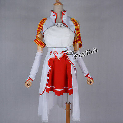 Asuna Yuuki Anime Complete Outfit Women Cosplay Japan Party Costume  - Complete Womens Outfits