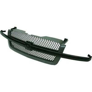 Chevrolet Chevy Silverado 1500 Truck 03-07 Front Grille Grill Black GM1200557