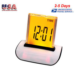 Digital LED Alarm Clock Table Desktop Decor LCD Thermometer Calendar