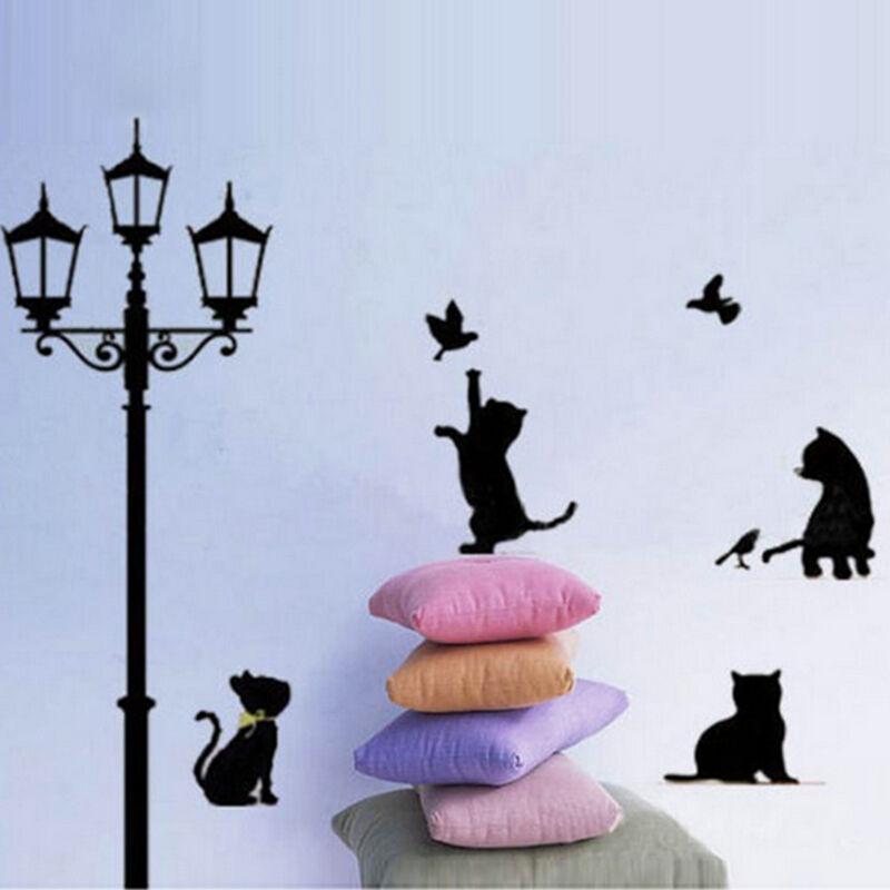 Pegatinas de pared etiqueta engomada polos gato decoraci n for Pegatinas pared ninos