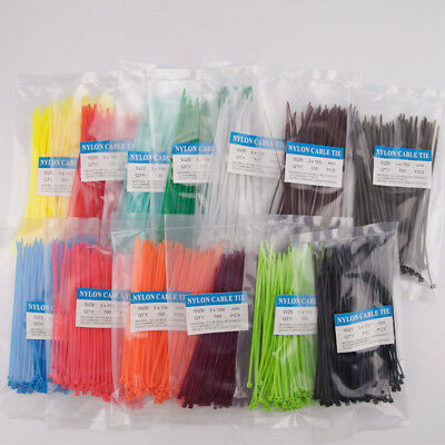 3x150mm Color Wrap Heat-resistant Self-locking Chorda Tie Nylon Cable Tie 100pcs