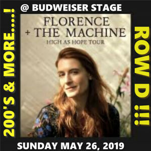 FLORENCE AND THE MACHINE @BUDWEISER–AMAZING ROW D 200s & MORE!!!
