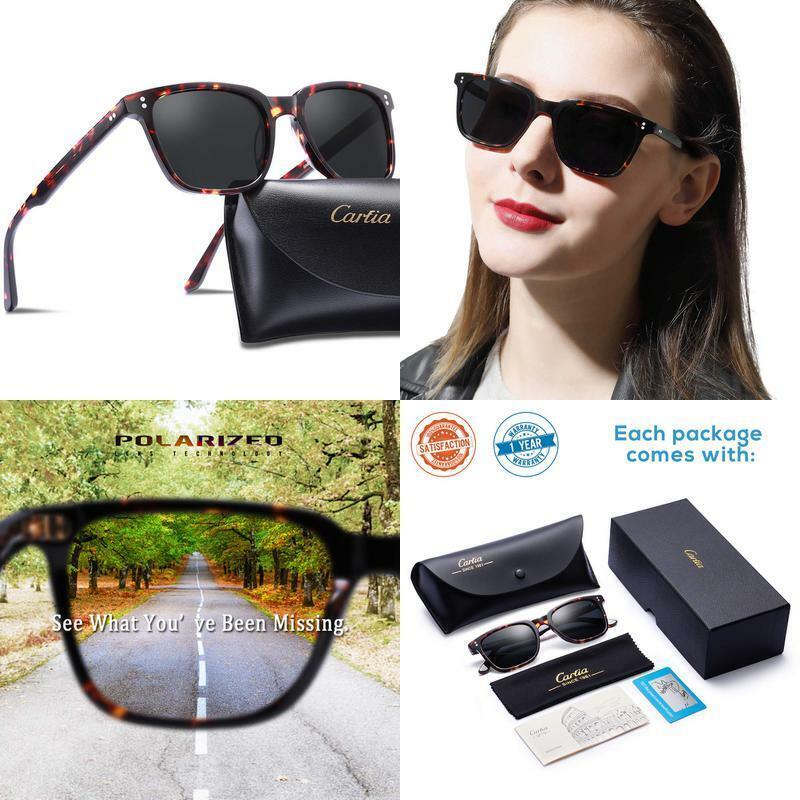 Carfia Chic Retro Polarized Sunglasses For Women Uv400 Prote