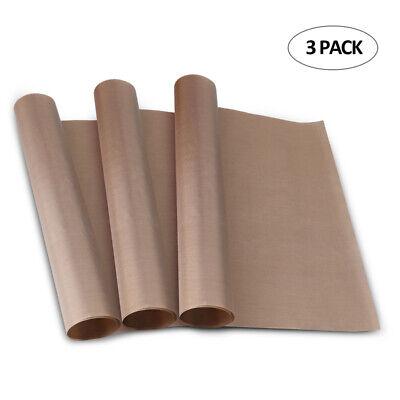 3x Ptfe Teflon Transfer Sheets For Heat Press Non Stick Reusable Diy Craft Paper