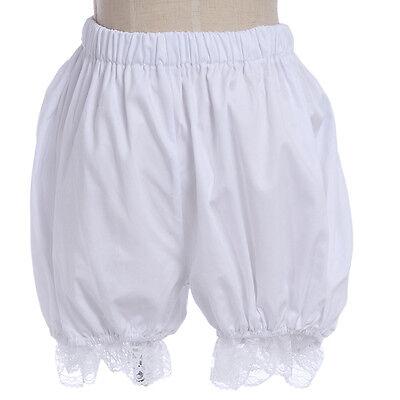 Women Girls White Bloomers Lace Lolita Elastic Petticoat Pettipants Shorts Pants
