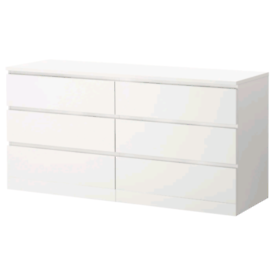 IKEA MALM Chest of 6 drawers, white