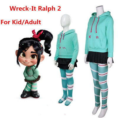 Ralph Breaks the Internet Wreck-It Ralph 2 Vanellope Cosplay Costume Full Outfit - Wreck It Ralph Outfit