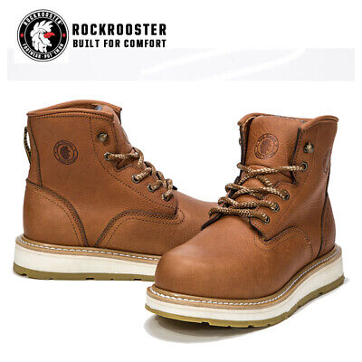 ROCKROOSTER Work Boots for Men Safety Shoes Slip Resistant Soft Toe Waterproof