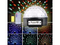 BRAND NEW XMAS CHRISTMAS DJ 6 LEDs RGB Stage Light Party Bar Club Effect Light Uk Plug remote usb