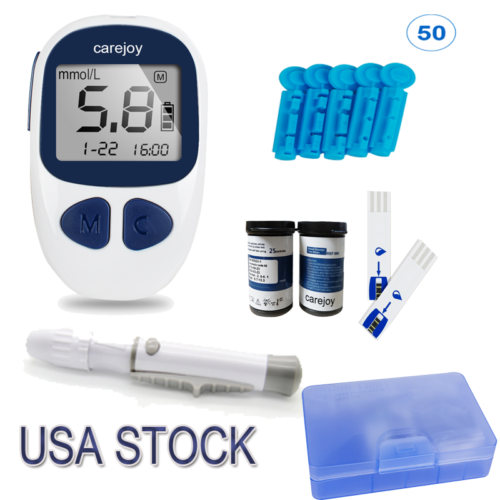 Blood Glucose Kit Glucometer Sugar Meter Monitor Diabetes+Fr