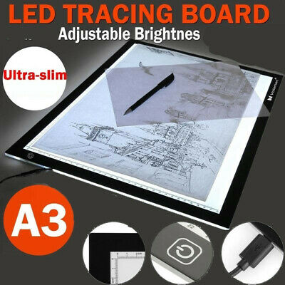 """19"""" A3 LED Tracing Board Pad Light Box Stencil Drawing Display Copy Art Tattoo"""