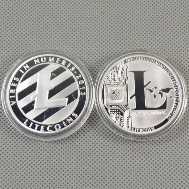 Gold//Silver Plated Commemorative Litecoin Collectible Golden Iron Miner Coin