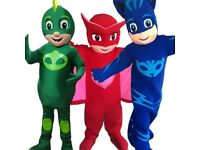 PJ MASK RED BLUE or GREEN FULL MASCOT COSTUME ADULT SIZE £139.99 plus £13 postage