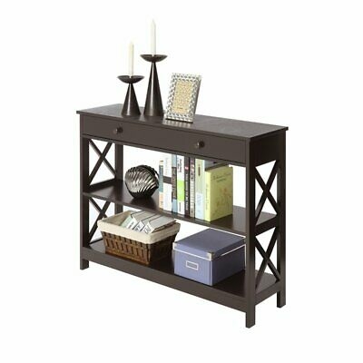 Convenience Concepts Oxford  Console Table with Drawer in Espresso Wood Finish