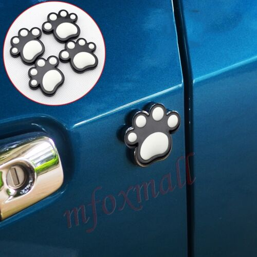 4PCS Auto Door Edge Guard Anti-rub Scratch Protective Trim Black Animal Foot
