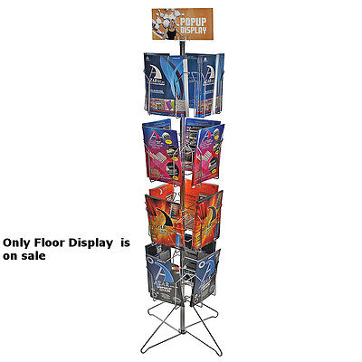Metal 16 Pocket Wire Literature Display Rack 8.5w X 11h Inches With Metal Base
