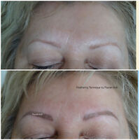 Permanent Makeup Eyebrows- Microblading- Before & After Pictures