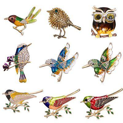 Fashion Crystal Rhinestone Bird Owl Animal Brooch Pin Women Jewelry Party Gift (Owl Pin)